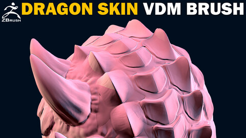 20 Dragon (Reptile) Skin VDM Brush for ZBrush