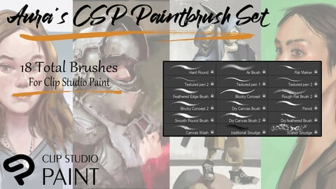 Aura's CSP Paintbrush Set