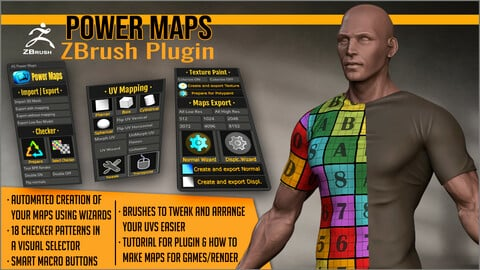 Power Maps ZBrush Plugin