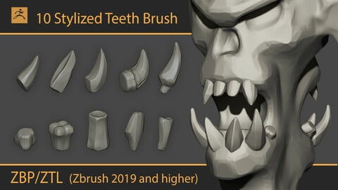 Stylized teeth for Zbrush