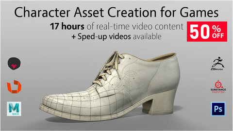 Character Asset Creation for Games - 50% Black Friday Discount