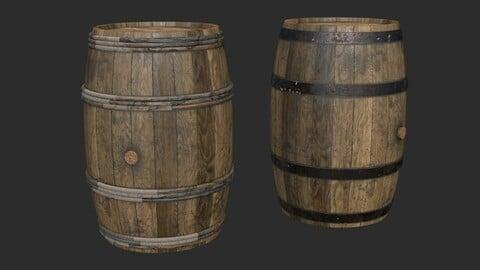 Wooden Barrels Assets 6