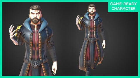 Stylized Male Character - Game-Ready - Witcher
