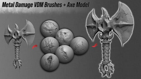 Metal Damage VDM Brushes + Axe Model