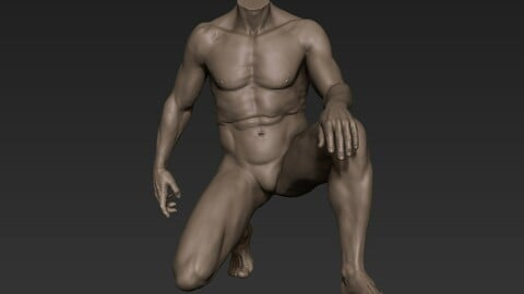 Male Full Body Sculpt Pose 7