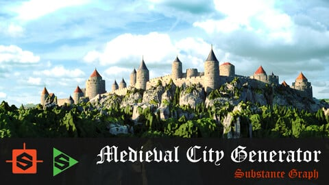 Medieval City Generator - Substance Designer