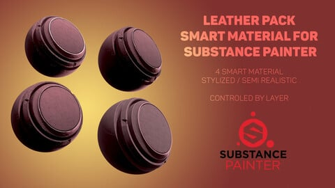 Stylized Leather pack for substance painter