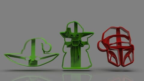 The Mandalorian cookie cutter Xmas Collection
