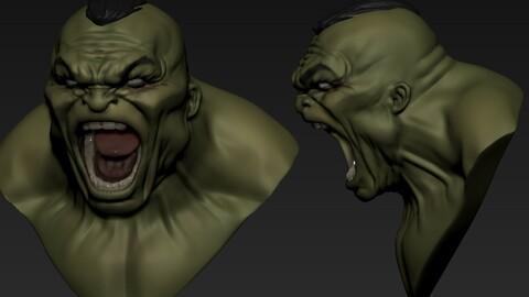 Hulk Comic  Screaming basemesh