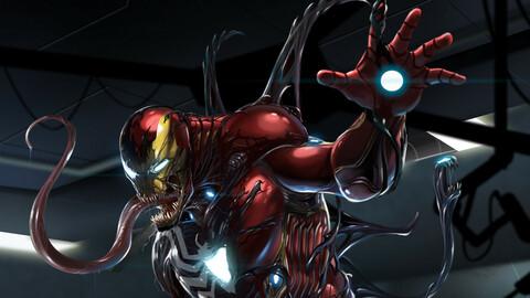 Venom x Iron man Fanart