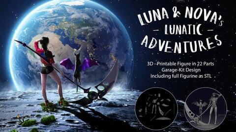 Luna, Nova & Schroedinger Figurine Garage-Kit 1/8 Scale for 3D Printing