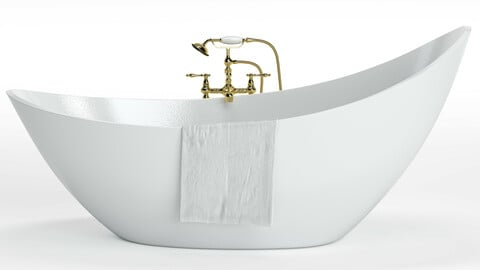 Bathtube with Shower 02