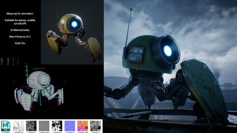Robot Animation Rig for Maya