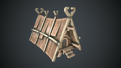 Viking House Low-poly 3D model