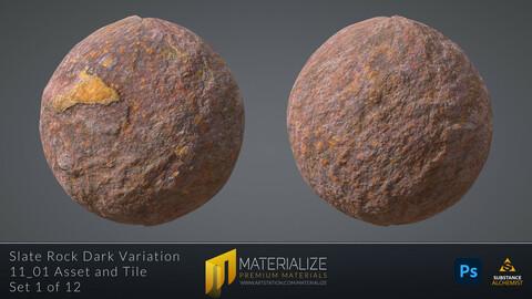 Slate Rock Dark Variation Material | Tileable