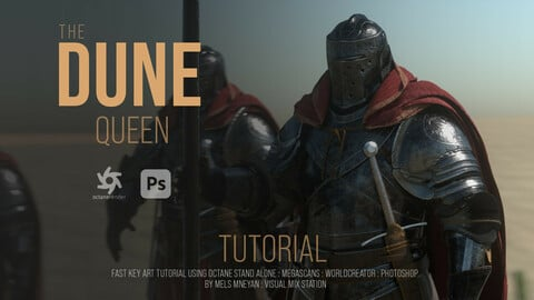"""Duen Queen"" fast key frames - Tutorial [Octane 2020 : Photoshop ]"