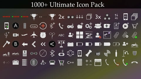1000+ Ultimate Icon Pack