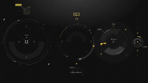 FUI / UI - Sci-fi Circular Elements Set