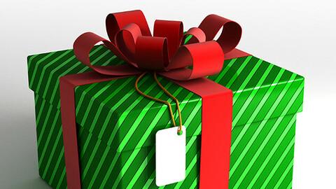 Gift Box 3D CG Kit