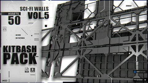 KITBASH PACK SCI-FI WALLS [Vol.5]