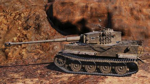 Military tanks in battle