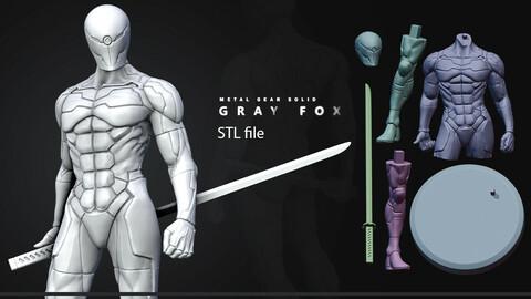 Gray Fox MGS 3d Print