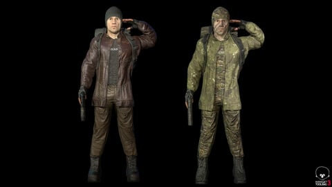 Supplier - army and civilian version Low-poly 3D model