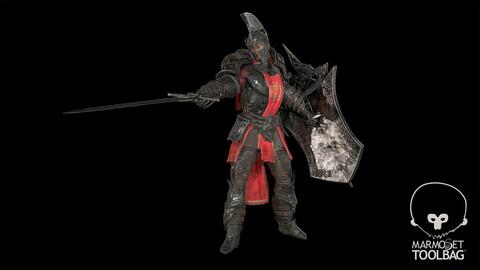 Knight Vesuvius Low-poly