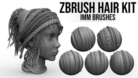 Black Diamond Hair Kit - IMM Brushes