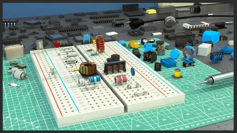 Elecrocomponents kitbash