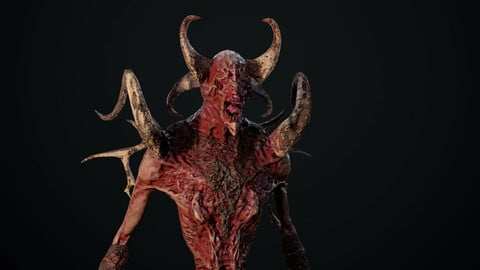 Monster Mutant 1 low poly game model