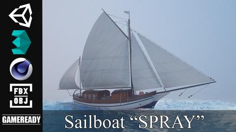 "SAILBOAT ""SPRAY"" - Game Ready"