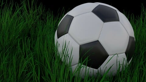 Soccer Ball with and without Stitching Low-poly 3D model