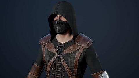 Assassin Secretive low poly game model