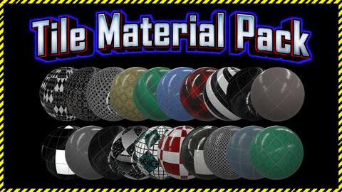 Realistic Tile Ceramic Material Pack / Sbsar / 20 pcs
