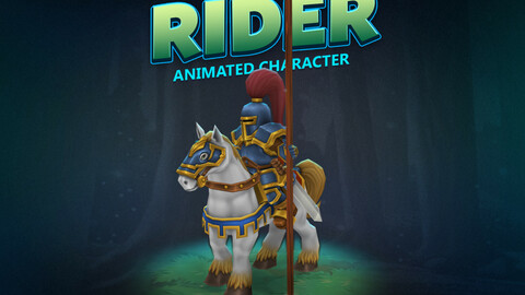 Rider knight animated character