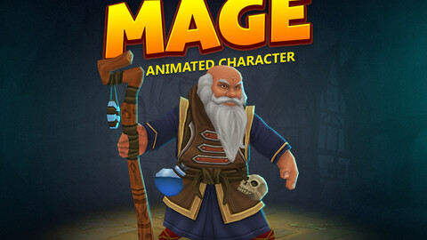 Mage animated character
