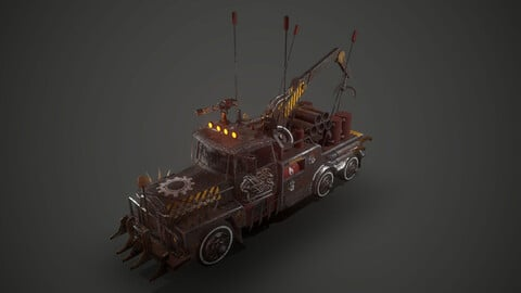 Apocalyptic Crane Vehicle car