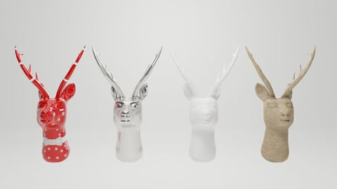 Deer decoration head  3D model