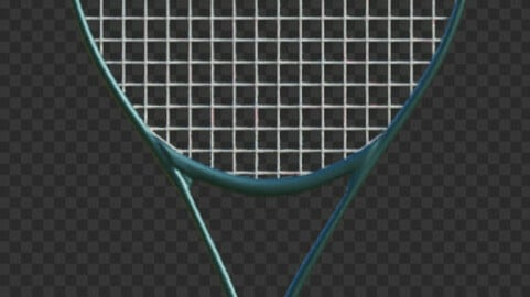 Tennis Racket Low-poly 3D model