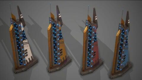 Futuristic Sci-Fi Building 16