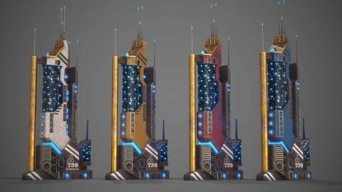 Futuristic Sci-Fi Building 19