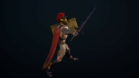 Gladiator Low poly game model!