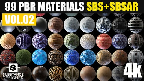 99 PBR Substance Designer Materials Vol.02