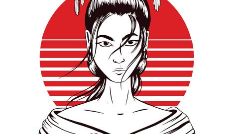 Japanese Geisha Artwork