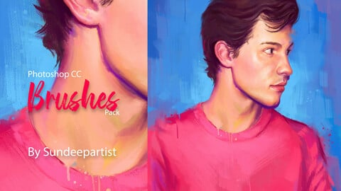Photoshop CC Oil Painting Brushes Pack by Sundeepartist