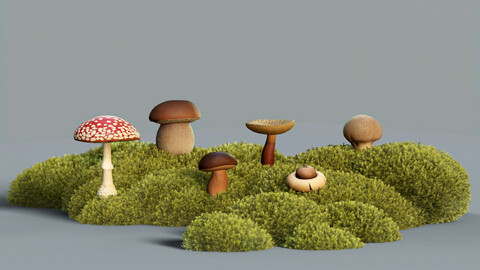 Common Forest Mushroom Asset Kit