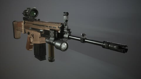 Scar FN Low-poly 3D model