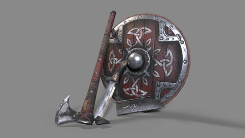 Viking weapon game set