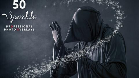 50 Halloween Sparkle Photo Overlays